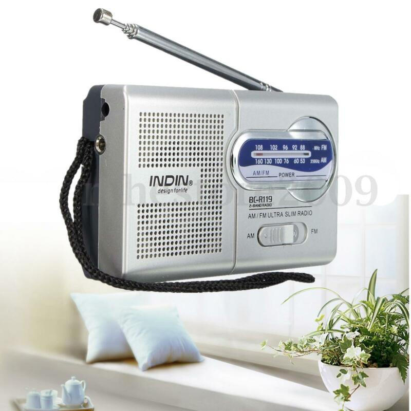 Mini Portable Pocket AM/FM Telescopic Antenna Radio World Receiver Speaker