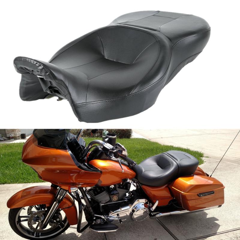 Black Rider Passenger Seat For Harley Touring Street Tri Glide Road King 14-18