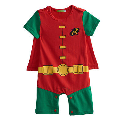 Baby Boy Robin Costume Romper Newborn Jumpsuit Outfit Infant Superhero - Baby Robin Costume