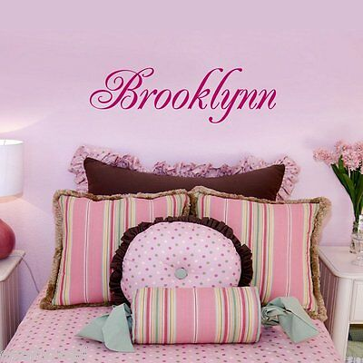 Child's Name ONE NAME Wall Decal Personalized Baby Nursery Kids Room Decor  ()