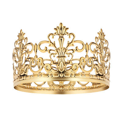 Crown For Cake (BESTONZON 1PC Tiara Crown Gold Delicate Cake Decoration Crown for Party)