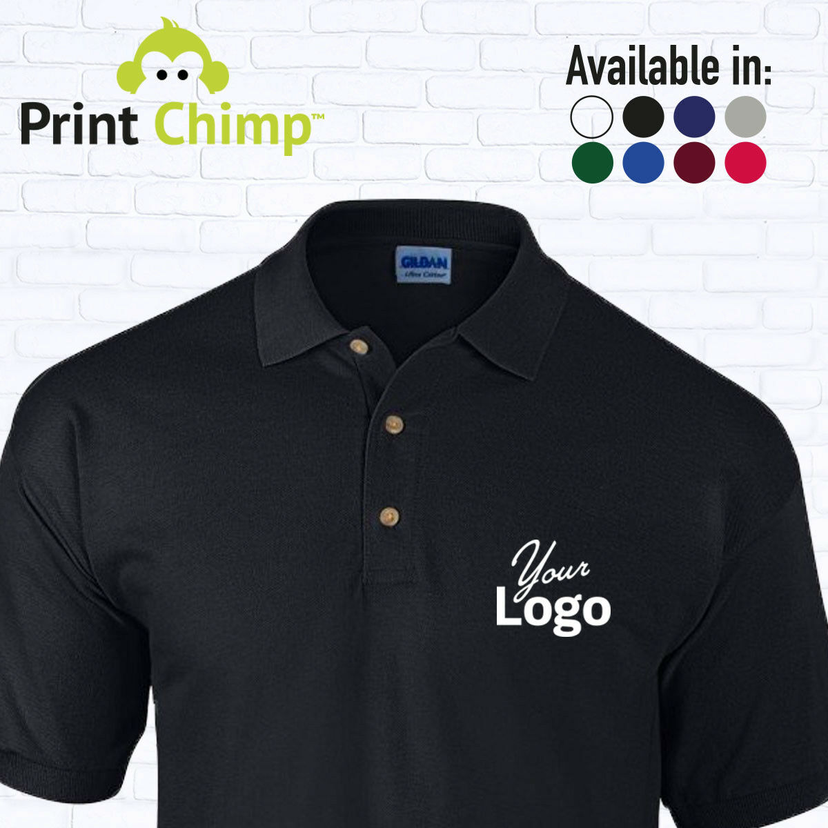 Personalised Polo Shirt Printed With Your Logo Customised Workwear