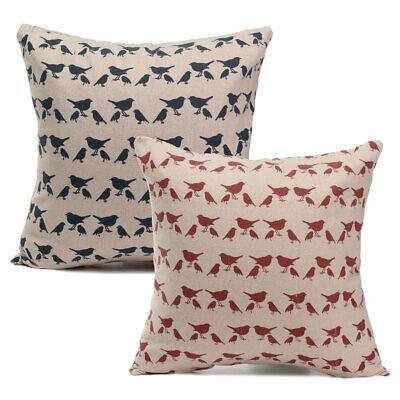 40x40cm Vintage Cotton Linen Cushion Cover Throw Pillow Case Sofa Home   US US! Home & Garden