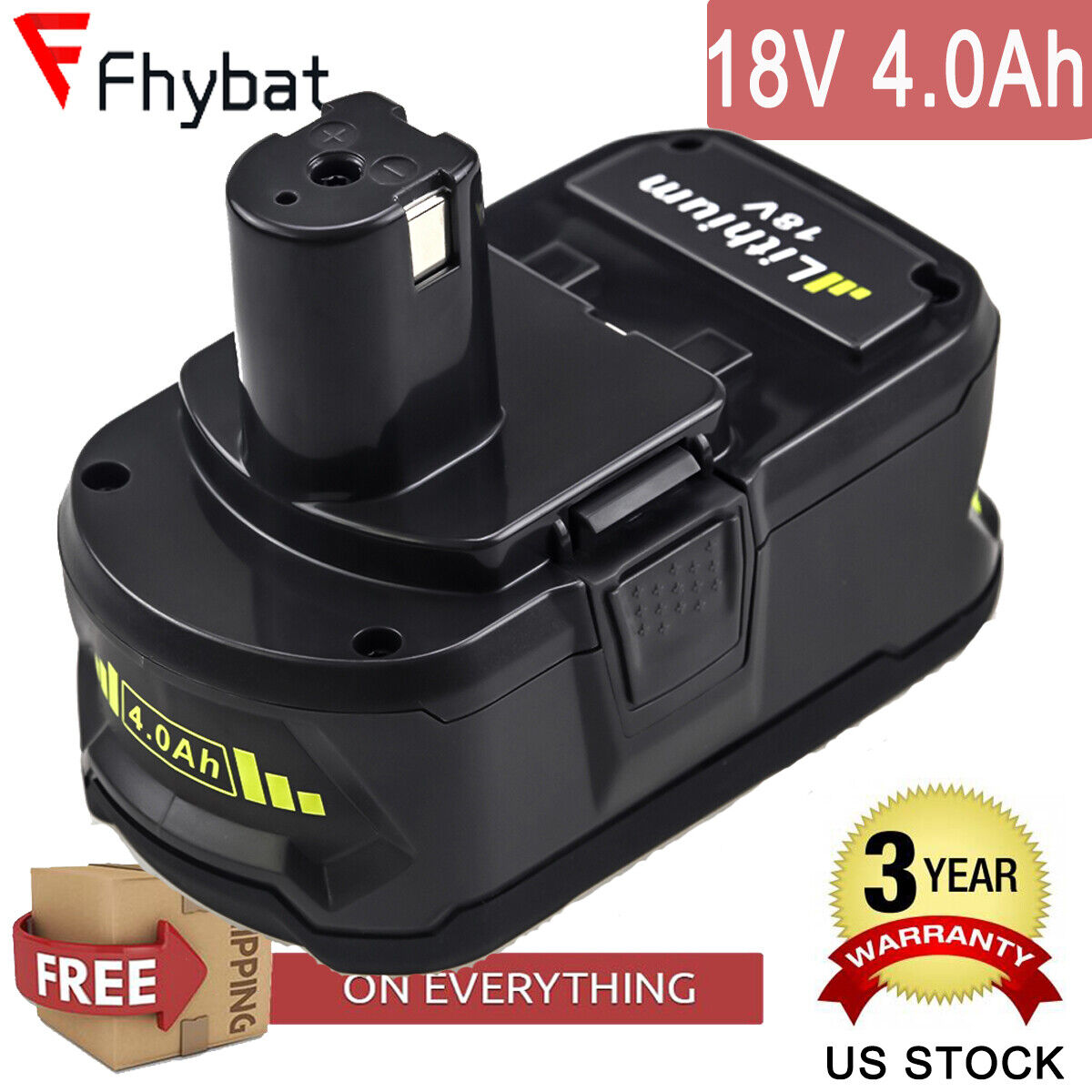 Ryobi P108 4AH One+ High Capacity Lithium Ion Battery For Ry