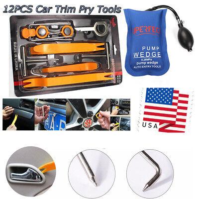 13pc Dash Panel Removal Radio Trim Panel Open Air Pump Wedge Bag Car Repair Tool