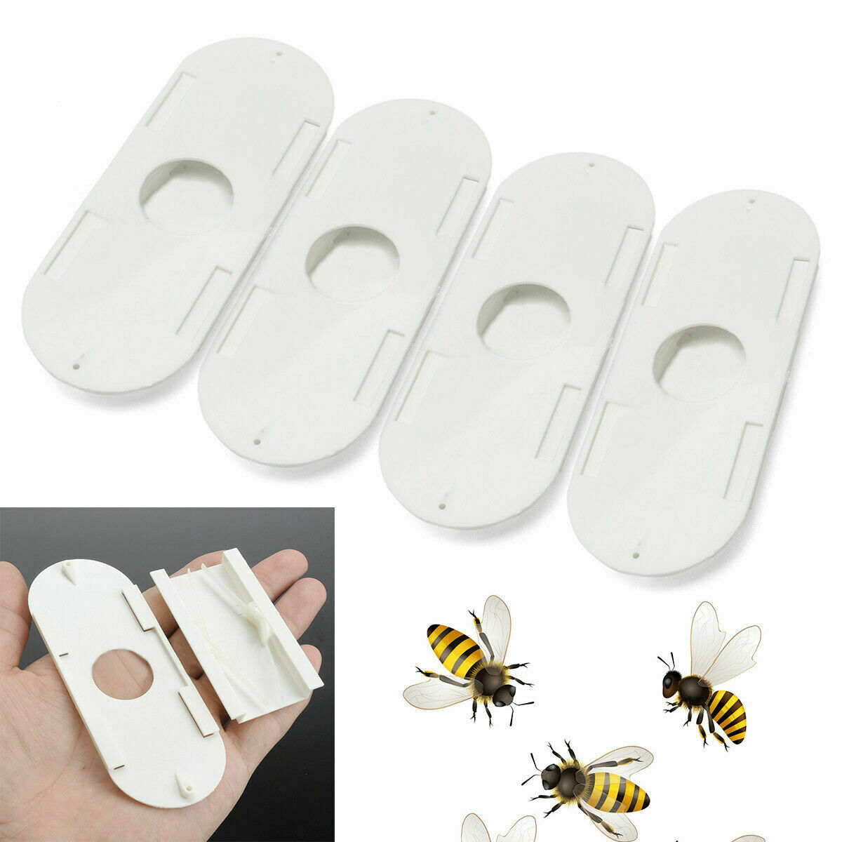 4Pcs Porter Bee Escapes Beekeepers Beekeeping Hive Tool Useful New Plastic M2M2