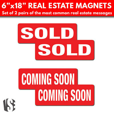 Real Estate Sign Rider Magnets 6 X 18 Set Of 4 Large Magnets
