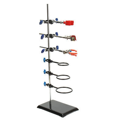 60cm 11pcs Lab Flask Clamp Stands Condenser Holder Support Laboratory Equipment