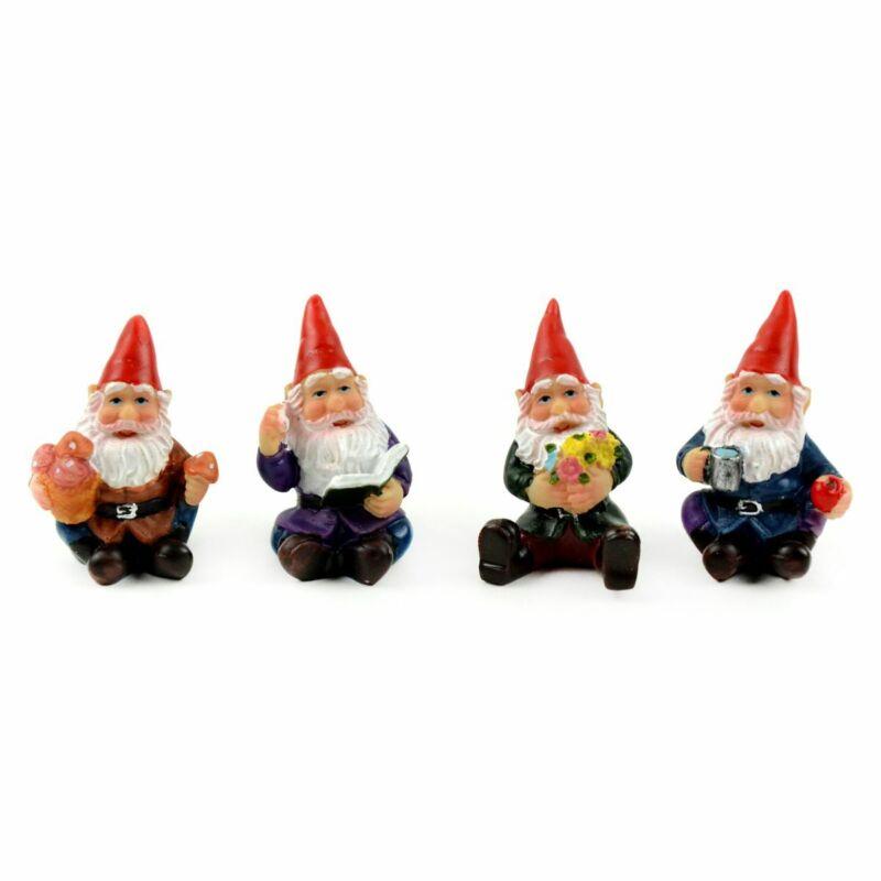 "Miniature Dollhouse Fairy Garden 1"" Micro Gnomes - Set of 4 - Buy 3 Save $5"