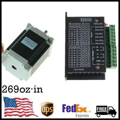 Nema 23 Stepper Motor 269ozin1.9nm 3.6v3a With Driver Tb6600 Set Us Stock