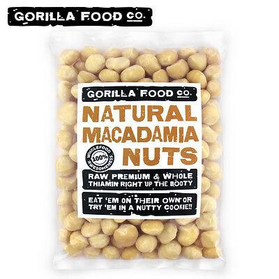 Gorilla Food Co. Raw Macadamia Nuts Whole Unsalted (Fresh Crop-Style 1)