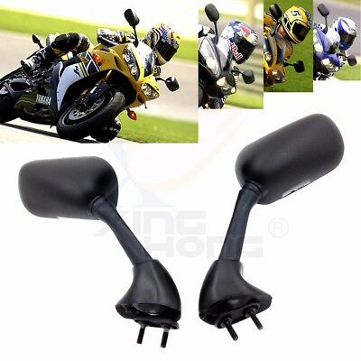 Black Mirrors For 2000-2006 Yamaha YZF-R1 2001-02 R6 / YZF-R6, used for sale  USA