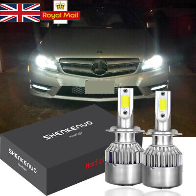Bulbs H7 LED Headlight Low Beam White ERROR FREE FOR Mercedes C Class W204 07-14 for sale  United Kingdom