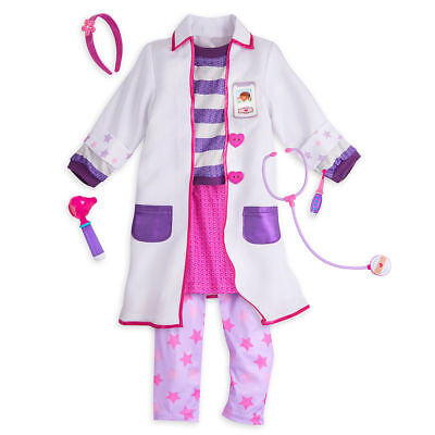 NWT Disney Store Doc McStuffins Costume Set Halloween Dressup 4,5/6,7/8 Girls - Halloween Costume Sets