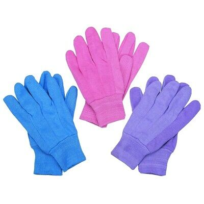 Cotton Canvas Gardening Gloves With PVC Dots, 3 Pr. Great gloves for gardening