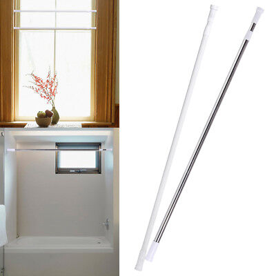 Extendable Telescopic Shower Curtain Rod Rail Spring Tension Pole Support (Curtain Rail Support)