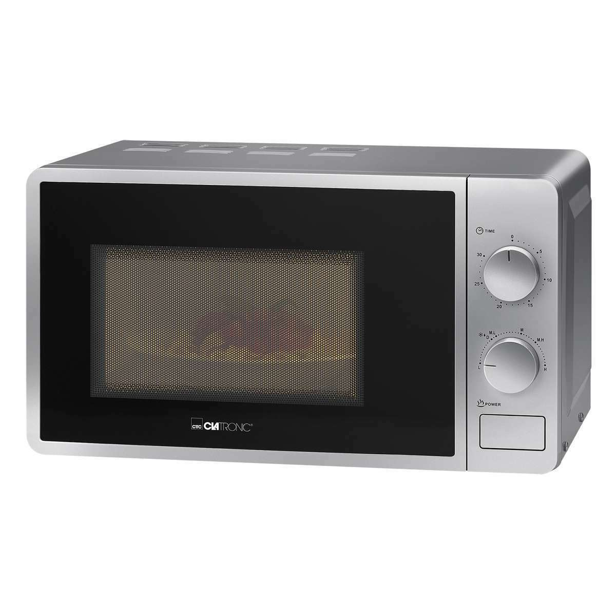 CLATRONIC MW 791 Mikrowelle Microwelle Microwave mit Grill 20 Liter silber