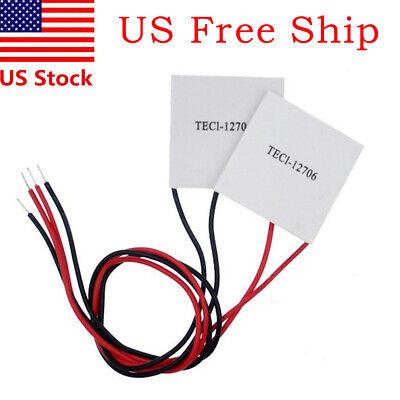 2x 12v 60w Thermoelectric Cooler Tec Peltier Module Heatsink Kit Tec1-12706 Us