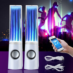 2X LED Light Water Dancing Speakers Show Music Fountain for Phone Computer