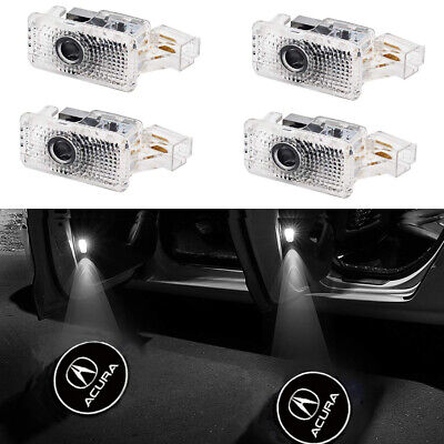 4 pack Car Door LED Logo Projector Ghost Shadow Lights Welcome Lamp  for Acura