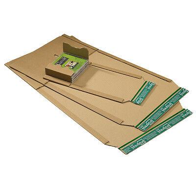 75 x Buchverpackung DIN A4 - 302x215x20-75 mm TwinBook