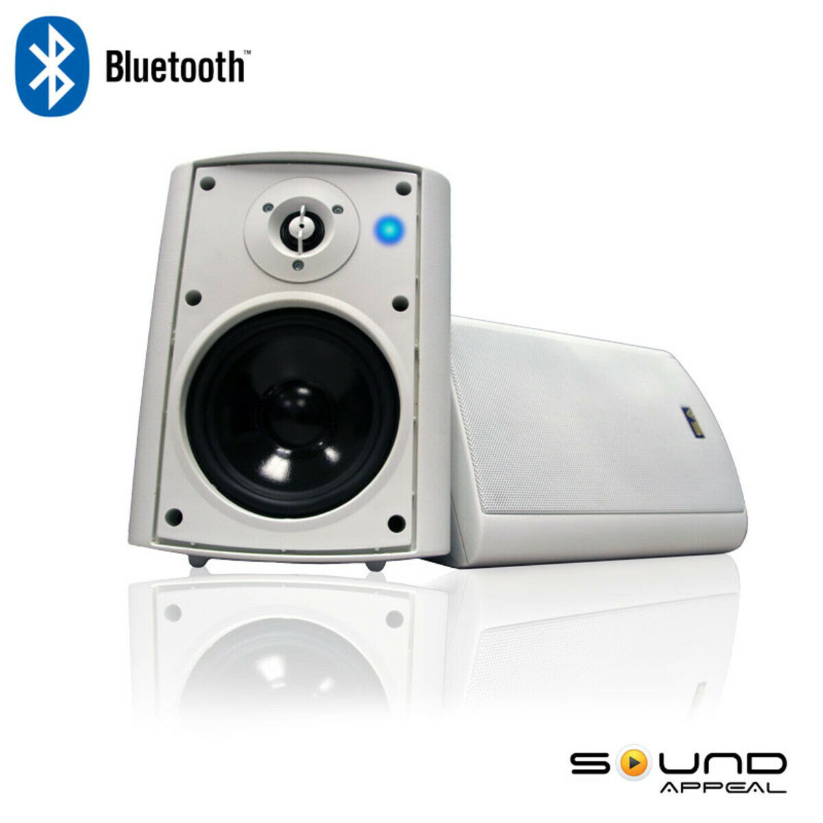 "Bluetooth 5.25"" Indoor/Outdoor Weatherproof Patio Speakers -"
