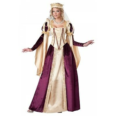 Renaissance Queen Costume Adult Medieval Princess Halloween Fancy - Medieval Princesses