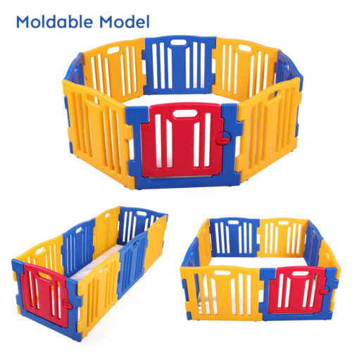 Baby Playpen Kids 8 Panel Safety Play Center Yard Home Indoor Outdoor Fence