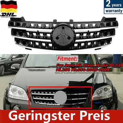 Kühlergrill Schwarz Glanz + Chrom Facelift Design für Mercedes ML W164 05-08