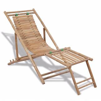New Items-Bamboo Deck Chair with Footrest(SKU 41492)vidaXL