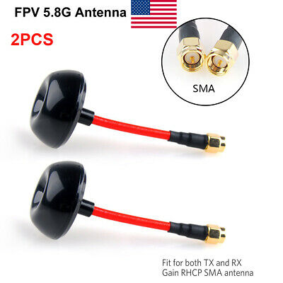 2pcs 5.8GHz FPV Antenna Circular Polarized TX RX RHCP SMA for FPV Racing Drone