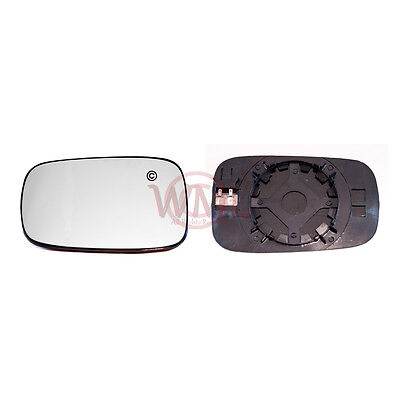 RENAULT CLIO 2006 2009 DOORWING MIRROR GLASS SILVERHEATED  BASELEFT SIDE
