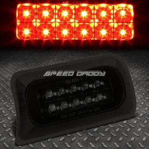 FOR 1994-2003 CHEVY S10/GMC SONOMA BLACK SMOKED THIRD 3RD BRAKE LED LIGHT LAMP