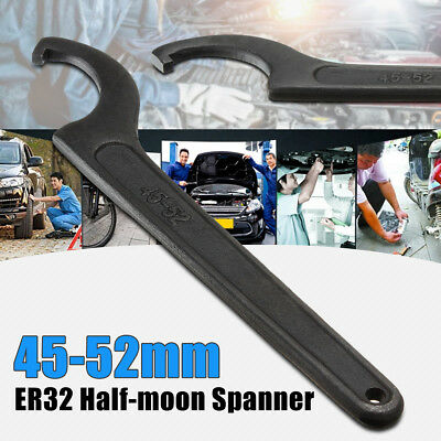Er32 45-52mm Half-moon Spanner Mill Holder Chuck Collet Wrench Cnc Drill Tool Us