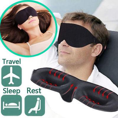 Eye Mask Travel Sleep Aid Shade Cover Unisex In Black Best & cheap price uk (Best Sleep Mask Uk)