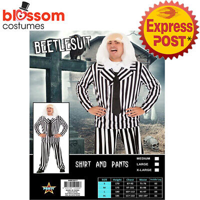 CA1009 Mens Beetlejuice Fancy Scary Beetle Juice Ghost Movie Halloween - Beetlejuice Scary Movie