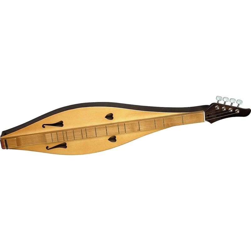 Dulcimer Mountain Made String Case And Vintage Hammered Wood Appalachian Strings
