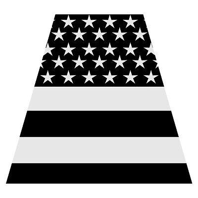 Black American Flag Tetra Firefighter Emergency Helmet Reflective Decal Sticker