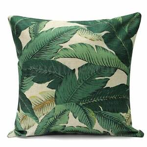 NEW 4 x Tropical Banana Leaf Cushion Cover Outdoor Alfresco Decor Atwell Cockburn Area Preview