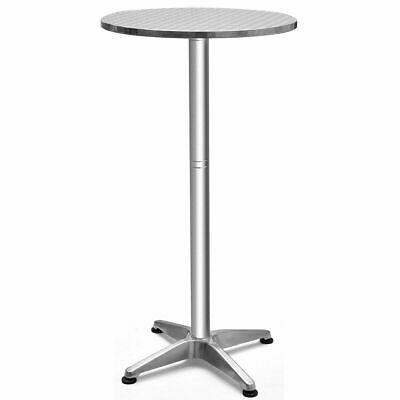 "Aluminium 23 1/2"" Round Bar Table Folding Adjustable Indoor"