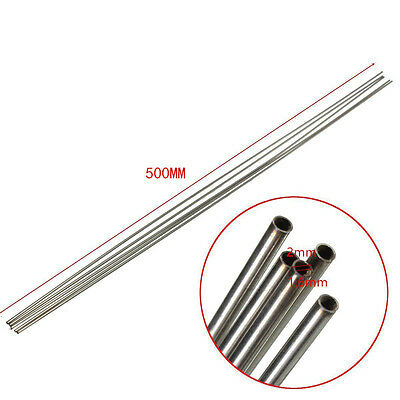 304 Stainless Steel Capillary Silver Tube Bar Od 2mm X 1.6mm Id Length 500mm