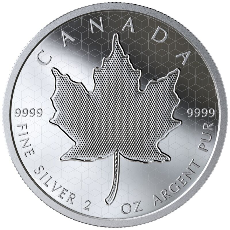 SOLD OUT - 2020 Pulsating Canadian Maple Leaf Optical Effect 2oz .9999 Silver