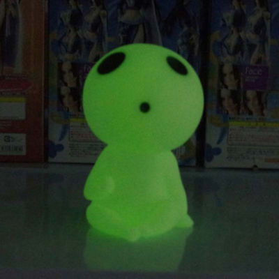 Anime Princess Mononoke Forest Spirit Elf Kodama Coin Piggy Bank Glow in Dark