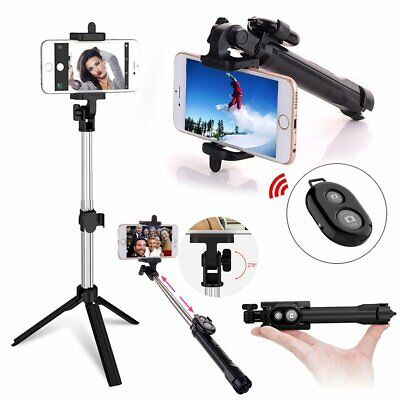 Tripod Bluetooth Monopod Selfie Stick Holder For iPhone Samsung Sony Smartphone