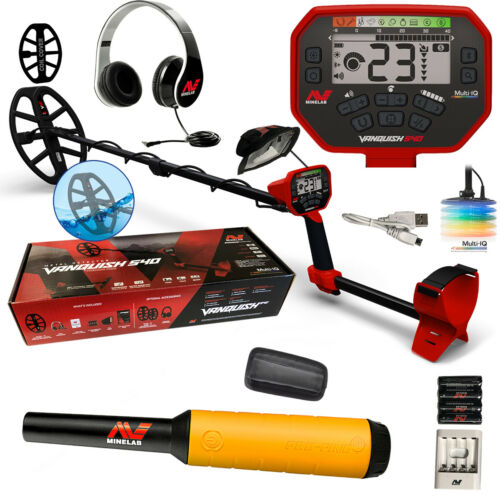 "Minelab Vanquish 540 with Free Pinpointer, Headphones, 12"" Coil with Cover +"