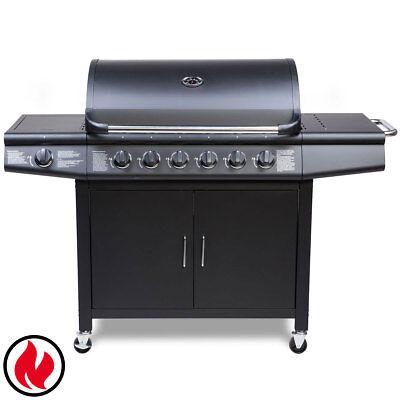 TAINO PRO Set Gasgrill BBQ GRILLWAGEN 6 Edelstahl
