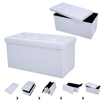 Sitzwürfel Ottomane Sitzhocker Sitzbox Sitzbank Aufbewahrungsbox faltbar