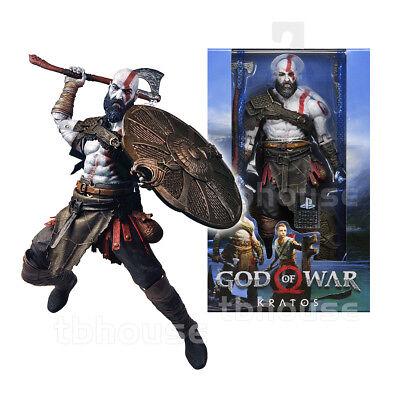 """7"""" KRATOS figure GOD OF WAR 4 playstation LEVIATHAN AXE ps NECA atreus 2018"""