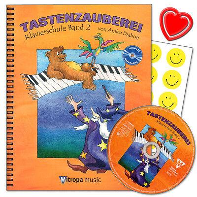 Tastenzauberei Band 2 - Klavierschule mit CD von Aniko Trabon - 9789043127424