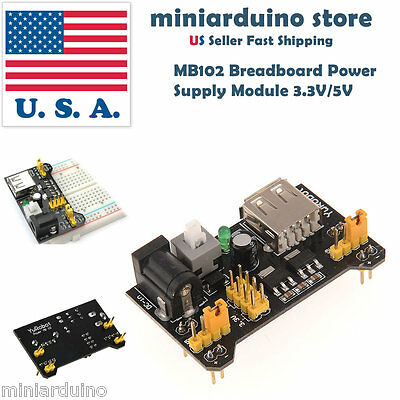 Mb102 Breadboard Power Supply Module 3.3v 5v Solderless For Arduino